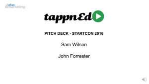 TappnEd StartCon2016 Pitch Deck interacative video